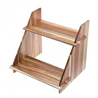 Mensola 2 ripiani in legno di acacia