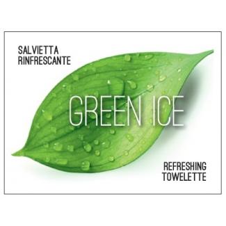 Salvietta TNT rinfrescante al thè verde in bustina 6x8 cm cartone da 500 pezzi