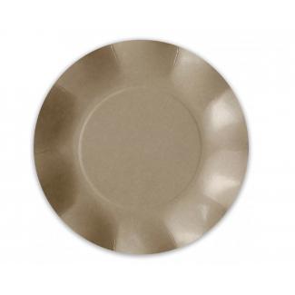 Piatto piano in cartoncino, diametro 21cm, in confezione da 8 pezzi
