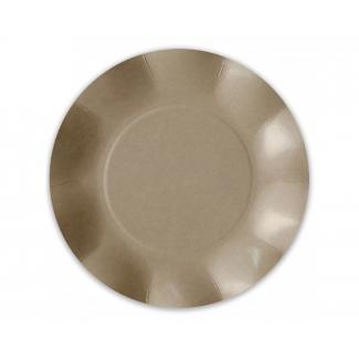 Piatto piano in cartoncino, diametro 26cm, in confezione da 50 pezzi