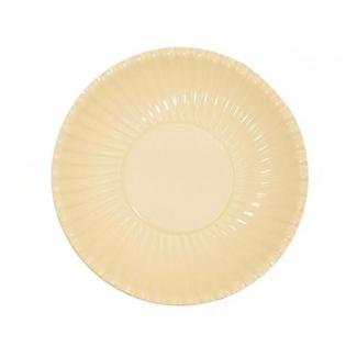 Piatto piano in cartoncino, diametro 29.5cm tinta unita in confezione da 10 pezzi
