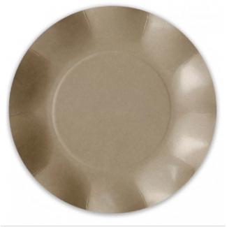 Piatto piano in cartoncino, diametro 27cm, in confezione da 8 pezzi