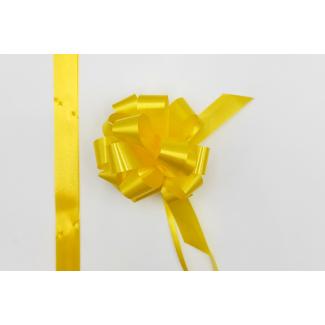 Coccarda laccio velox diamant giallo ocra confezione da 30 pezzi