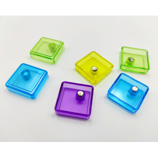 Magnete quadrato in colori assortiti, in confezione da 6 pezzi