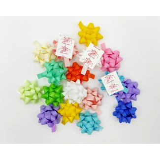 Coccarda stella adesiva mat color tinte primavera assortite confezione da 100 pezzi