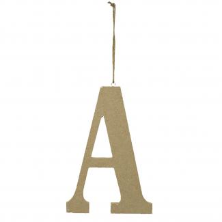 Lettera in legno da appendere cm 15x1.2 h 22