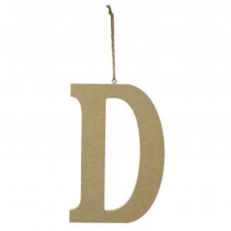 """Lettera in legno """"d"""" da appendere cm 15x1.2 h 22"""