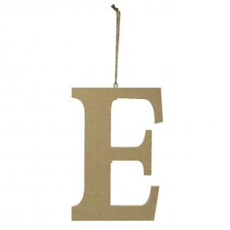 """Lettera in legno """"e"""" da appendere cm 15x1.2 h 22"""