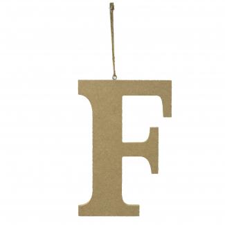 """Lettera in legno """"f"""" da appendere cm 15x1.2 h 22"""
