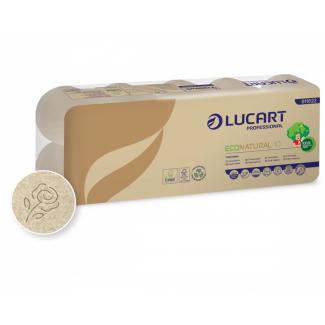 Carta igienica 2 veli 160 strappi in carta ecologica Econatural, confezione da 10 pezzi