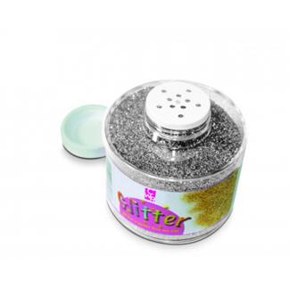 Barattolo glitter da 150ml, grana grossa, tinta unita