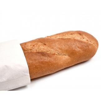 Sacchetto da baguette in carta kraft bianco 43 gr. confezione da 10 kg.