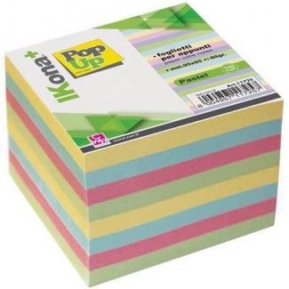Cubo carta per appunti, colori pastello, 740 fogli