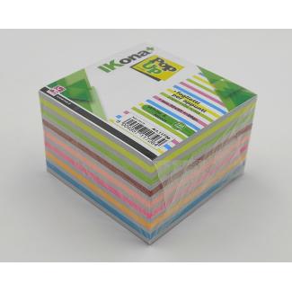 Cubo carta per appunti, bianco e neon, 720 fogli