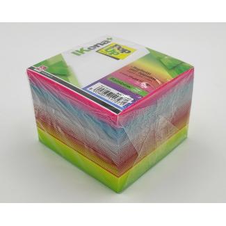Cubo carta per appunti, colori arcobaleno, 740 fogli
