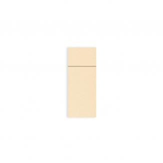 Tovagliolo con tasca porta posate caramello in tessuto non tessuto airlaid, confezione da 50 pezzi