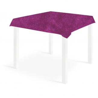 Tovaglia quadrata viola-melanzana in tessuto non tessuto 100x100cm, confezione da 25 pezzi