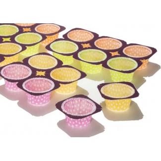 """kit 240 pirottini fantasia """"pois"""" da muffin + 10 teglie in cartone pretagliato per cottura"""