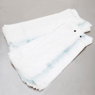 Sacchetto in plastica cartene trasparente HDPE a strappo con soffietti  laterali
