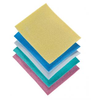 Panno spugna biocell 100% cellulosa, confezione da 5 pezzi in colori assortiti