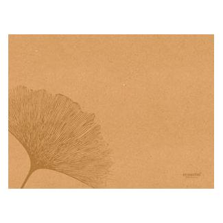 """Tovaglietta in carta avana riciclata fantasia """"Leaf"""", 30x40cm, confezione da 250 pezzi"""
