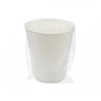 Bicchiere termico in cartoncino bianco biodegradabile e compostabile monoimbustato, confezione da 100 pezzi