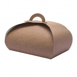 scatola monoporzione rettangolare avana linea petalo, cartone da 100 pezzi