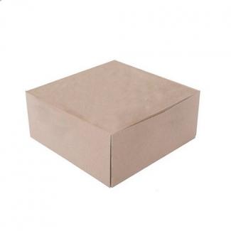 scatola porta torta quadrata avana linea ecolife dama, confezione da 25 pezzi