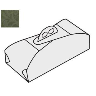 Scatola torta rettangolare fantasia damascata verde con maniglia, confezione da 25 pezzi