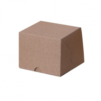 Scatola monoporzione quadrata avana linea ecolife dama, cartone da 100 pezzi