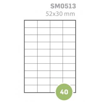 Etichette adesive rettangolari bianche in foglio A4 senza margine, per stampa laser, inkjet e fotocopiatrice in scatola da 100 fogli