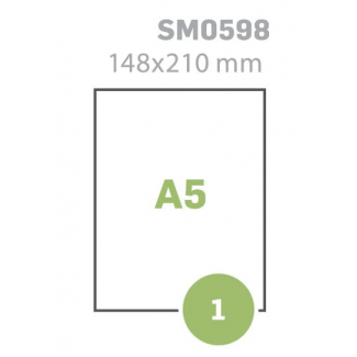 ETICHETTE AUTOADESIVE A5 MM210X148 N.1 X FOGLIO