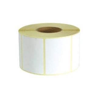 Rotolo carta termica adesiva per bilancia con foro 25