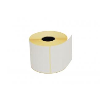 Etichette in carta adesiva bianca misura 60x65 mm, foro 40, in rotolo da 500 etichette