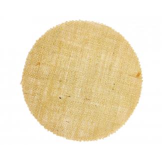 Tela juta rotonda, diametro 22cm, confezione da 10 pezzi