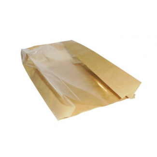 Sacchetto in carta Alios 40 gr. con finestra fronte sacchetto, confezione da 10 kg.