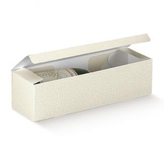Scatola cantinetta porta bottiglie automontante in cartone bianco perlato
