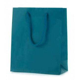 Shopper carta lusso opaco con maniglia in cotone