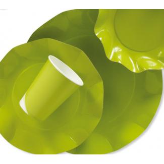 Piatto piano in cartoncino, diametro 27cm, in confezione da 10 pezzi