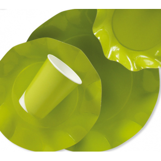 Piatto piano in cartoncino, diametro 21cm, confezione da 10 pezzi