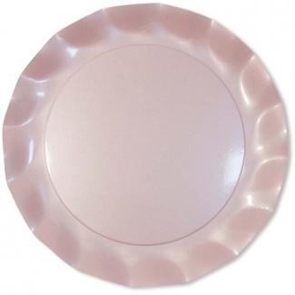 Sottopiatto in cartoncino, diametro 32.4 tinta unita perlato, confezione da 5 pezzi