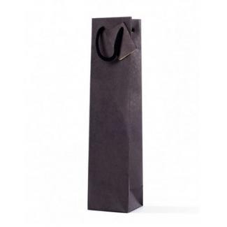 Mini shopper 1 bottiglietta kraft cordone cotton con tag