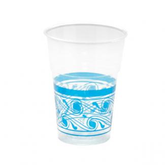 Bicchiere in plastica 250cc con decori confezione da 10 pezzi