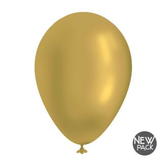 Palloncino diametro 35cm colore oro metallizzato confezione da 12 pezzi