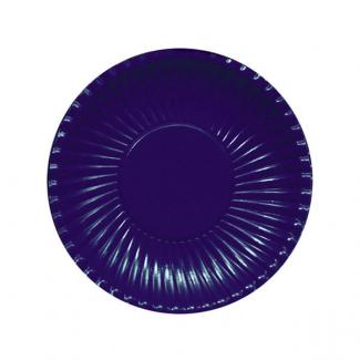 Piatto piano in cartoncino, diametro 18.5cm tinta unita in confezione da 10 pezzi