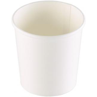 Barattolo cartoncino bianco per asporto zuppe/brodo/minestre uso caldo