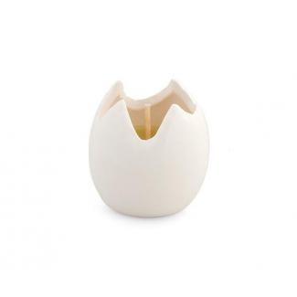 Uovo bianco con candela mm h 50 confezione da 4 pezzi