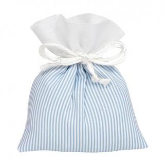 sacchetto a righe con laccio