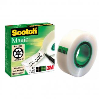 Scotch magic invisibile formato 19 mm x 33 m confezione da 5 rotoli + 1 in omaggio