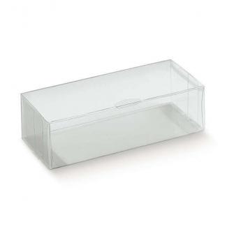 Scatola in plastica trasparente, con base rettangolare automontante, confezioni da 10 pezzi